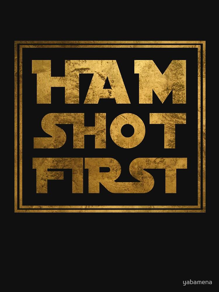Ham Shot First - Gold | Unisex T-Shirt
