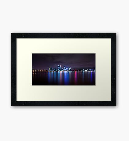 Perth Western Australia The Long Lights Framed Print