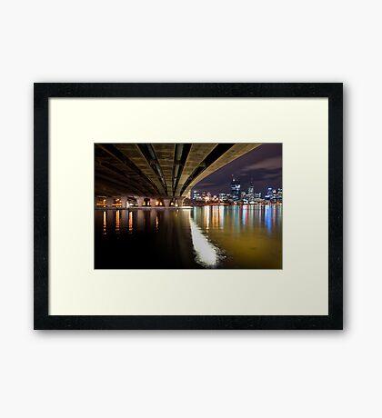 Under The Bridge Perth Western Australia Framed Print