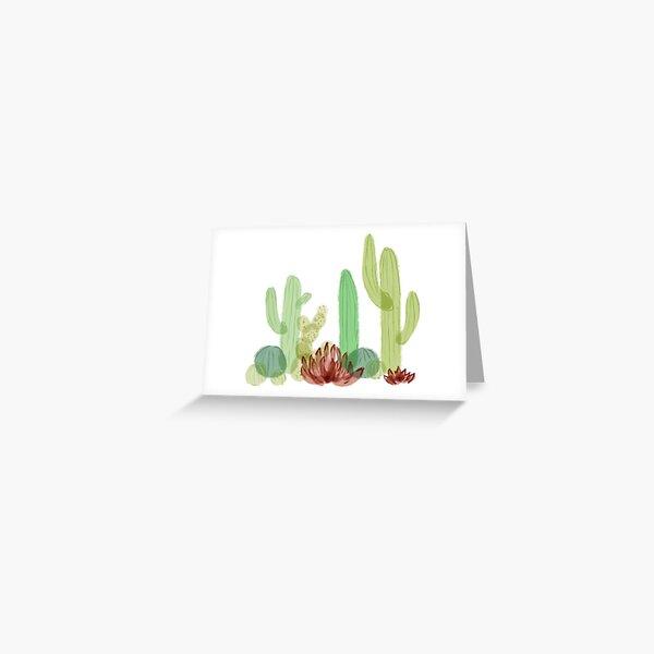 Cute Cacti  Greeting Card