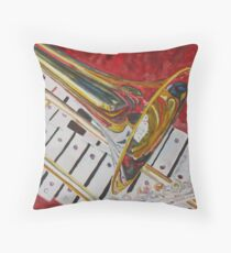 Ringing in the Brass Throw Pillow