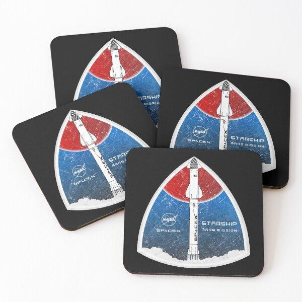 Starship: Mars Mission Coasters (Set of 4)