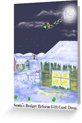 Santa's Gift Card Drop!Christmas Card! by weirdpuckett