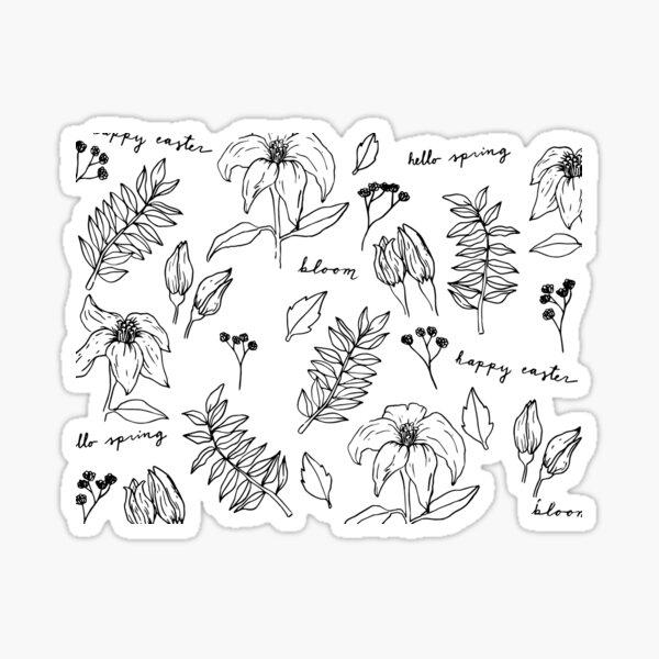 Easter Lily Celebration Sticker