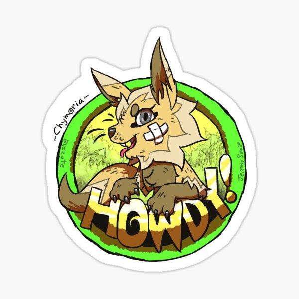 Cookie's Howdy Sticker Sticker