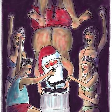 Santas Keg-Stand Christmas Card! by weirdpuckett