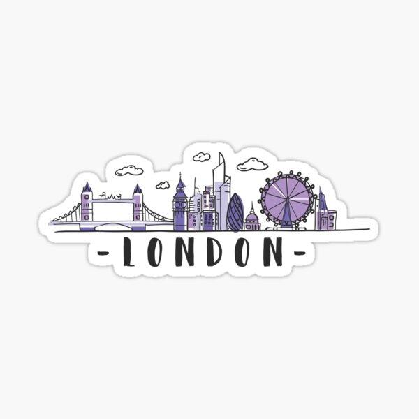 London Skyline. United Kingdom, Great Britain Hand Drawn Sticker