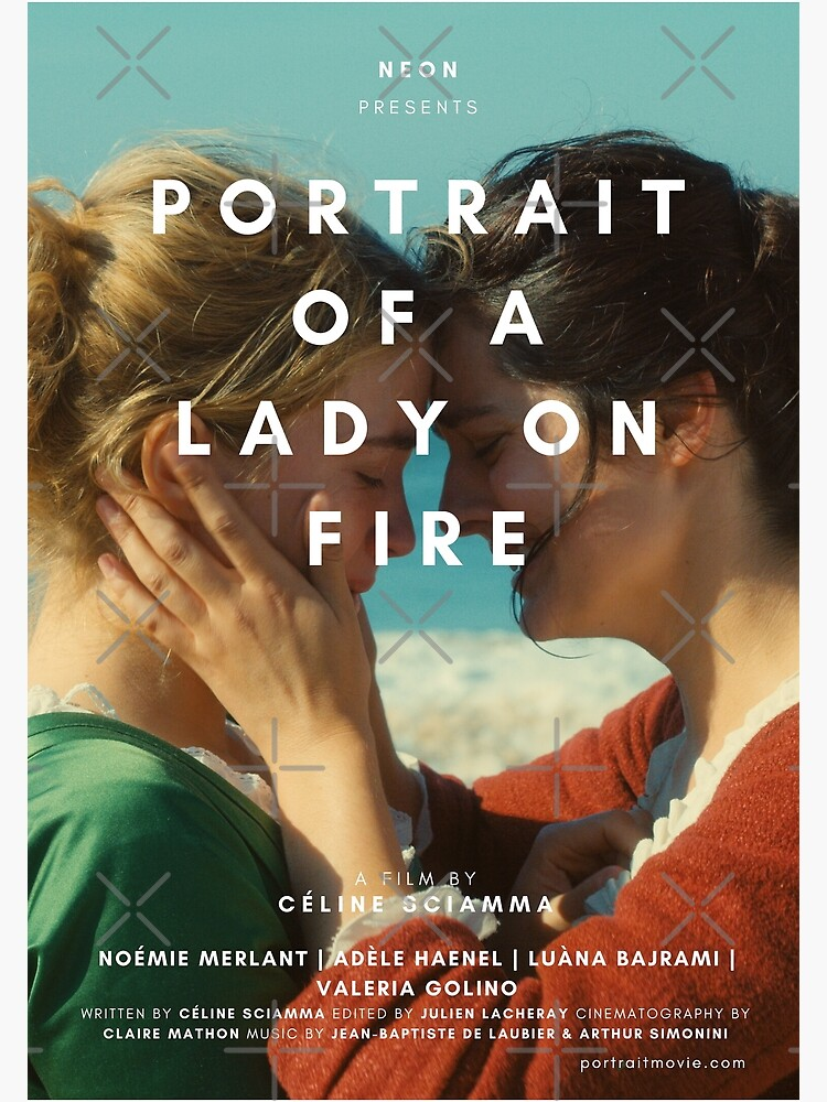 """PORTRAIT OF A LADY ON FIRE POSTER"""" Postcard by mikceys 
