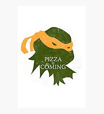 Pizza is Coming (Turtle Green Version) Photographic Print
