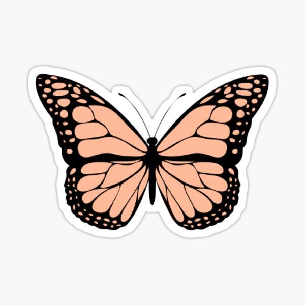 Peach Butterfly Sticker