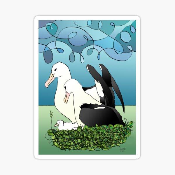 Albatross parents Sticker
