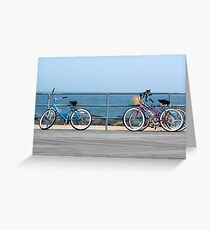 Bicycles on the Boardwalk Greeting Card