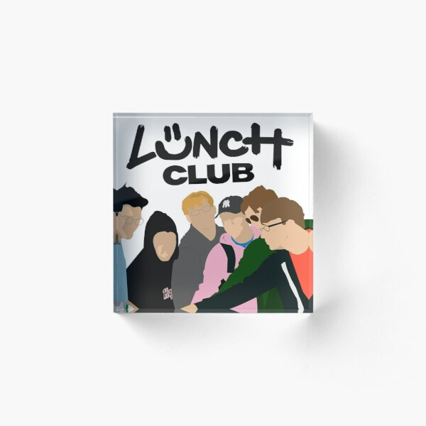 Lunch Club Simplistic Graphic  Acrylic Block