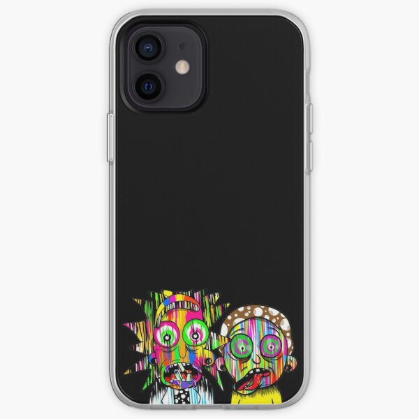 Rick and Morty paint splatter iPhone Soft Case