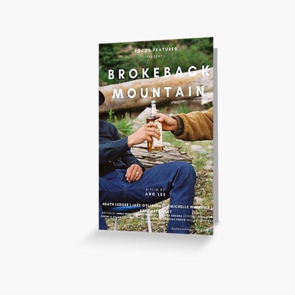 BROKEBACK MOUNTAIN BOTTLE POSTER Greeting Card