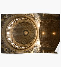 Inner dome of Saint Peters Basilica Poster