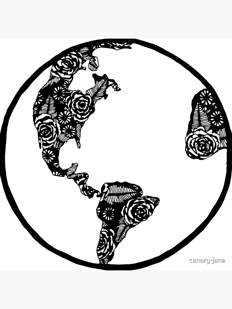 Earth in Florals by canary-jane