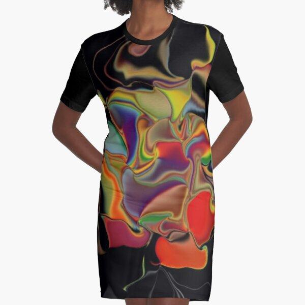 Random Thoughts Graphic T-Shirt Dress