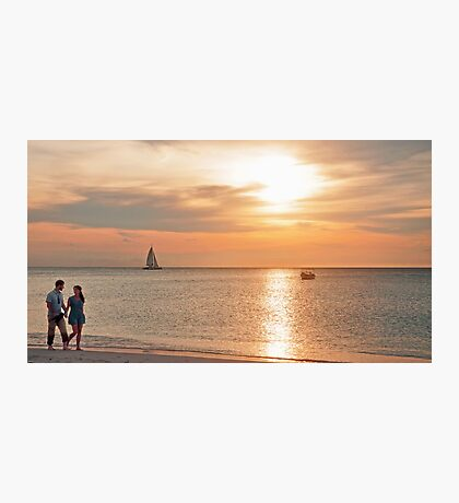 A Stroll at Sunset  Photographic Print