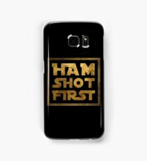 Ham Shot First - Gold Samsung Galaxy Case/Skin