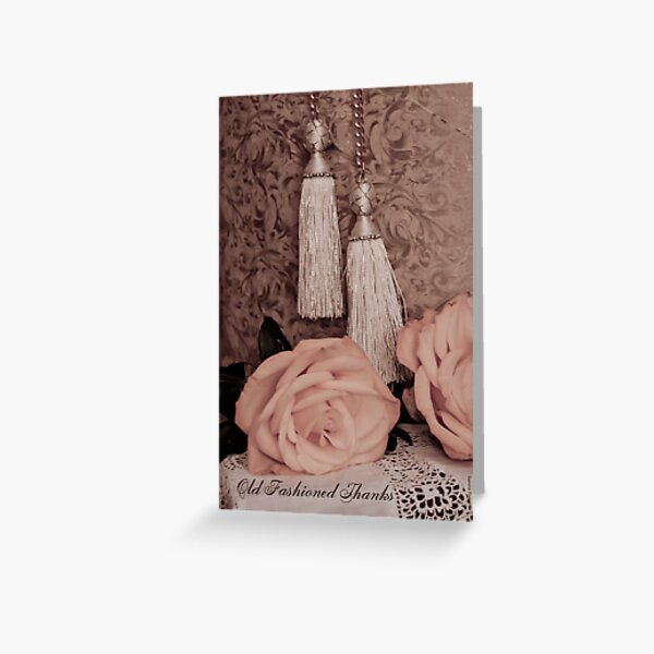 Old fashioned thanks on card. Greeting Card