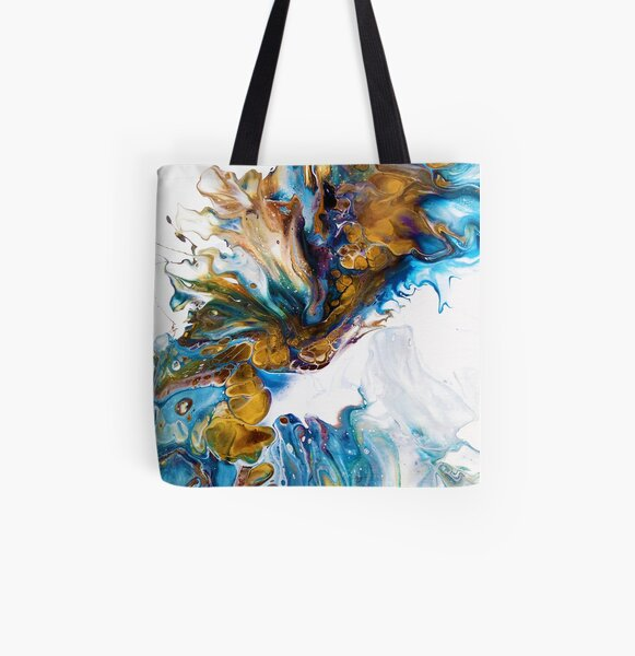 What's in a Wave All Over Print Tote Bag