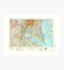 USGS Topo Map District of Columbia DC Washington 257789 1957 250000 Art Print