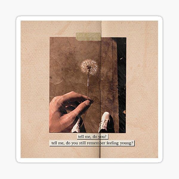 fearless by louis tomlinson / lyric edit Pegatina