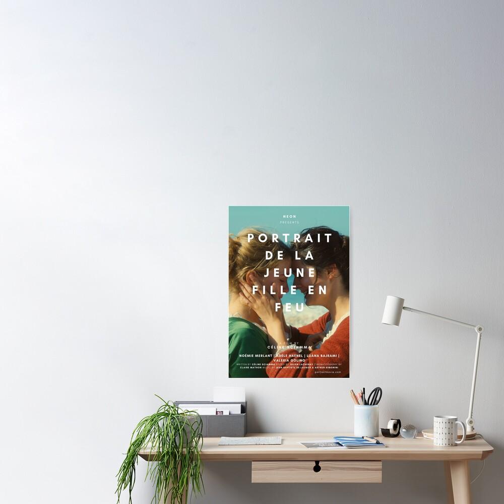 PORTRAIT DE LA JEUNE FILLE EN FEU Poster