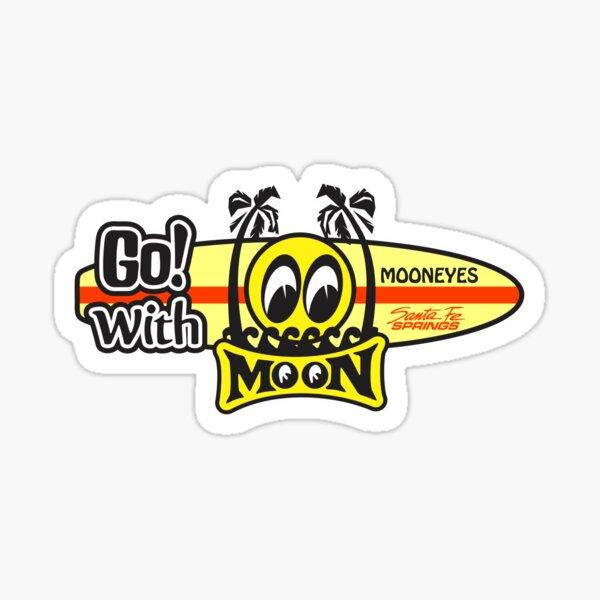 go with moon eyes horiz mooneyes Sticker
