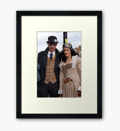 The Goth Weekend at Whitby, Oct 2011. 6 Framed Print
