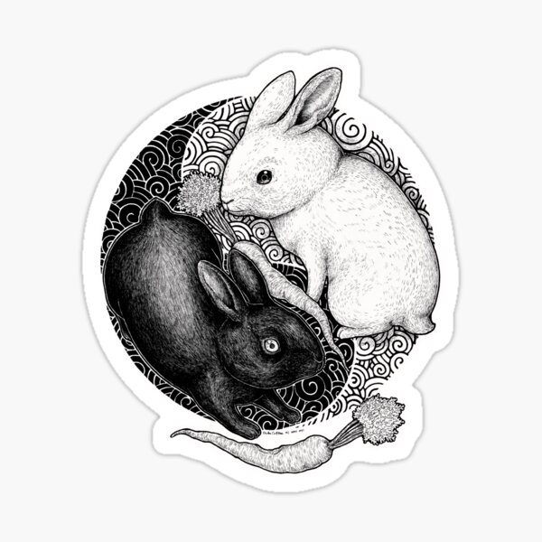 Balanced Bunnies Sticker