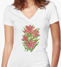 Lily Women's Fitted V-Neck T-Shirt