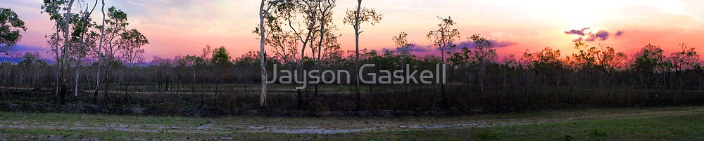 Sunset at the waterhole by Jayson Gaskell