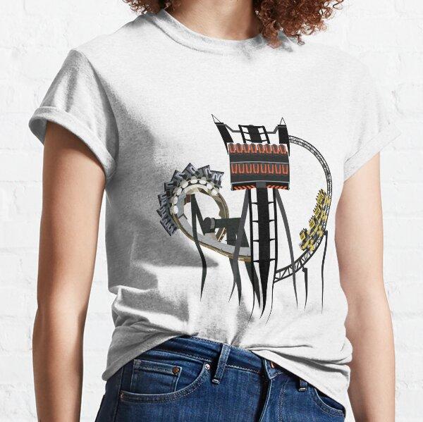 Thrilling Coaster Trio - Nemesis, The Smiler and Oblivion Design Classic T-Shirt