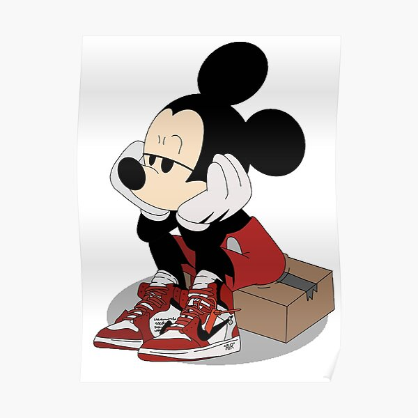 Mouse in trainers Poster