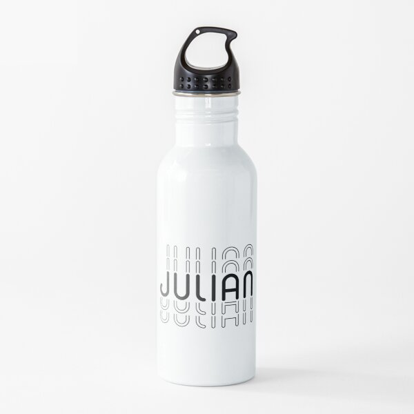 Name Julian in Black and White Style Water Bottle