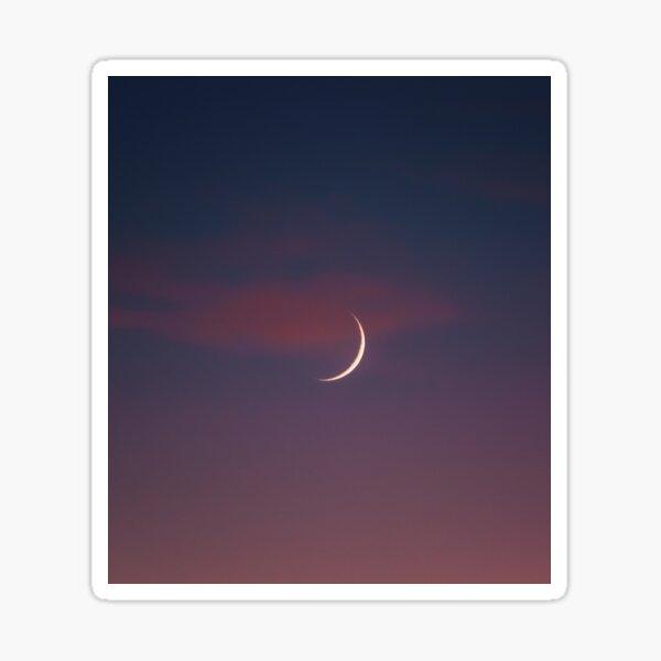 Neumond bei Sonnenuntergang Sticker