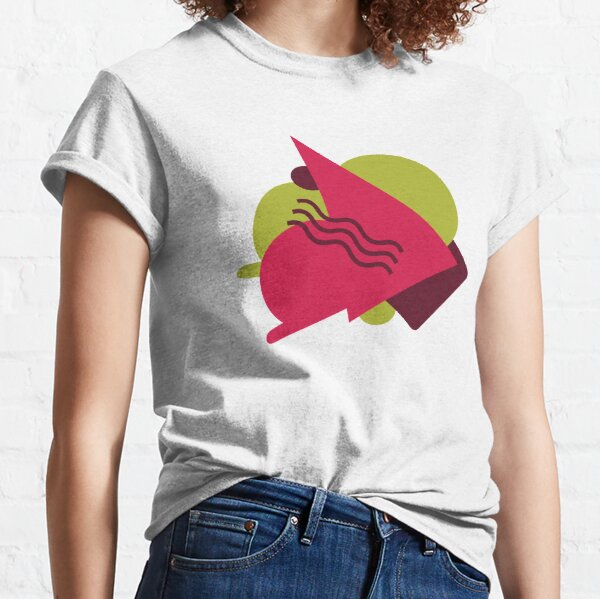 Green Pink Geo Style Classic T-Shirt