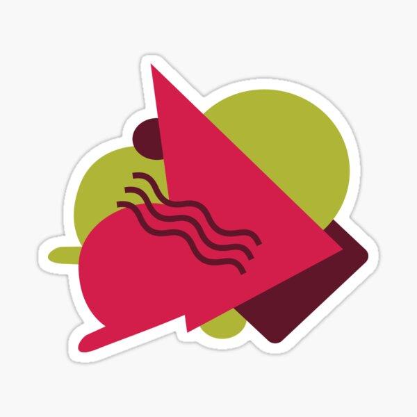 Green Pink Geo Style Sticker
