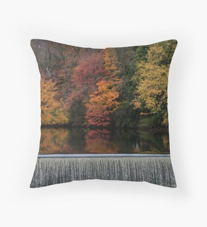 Above the Dam Throw Pillow