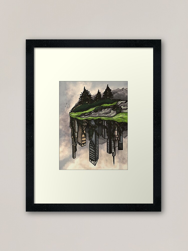 Alternate view of reclamation. Framed Art Print