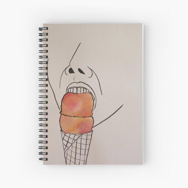 Biting Sherbert Drawing Spiral Notebook