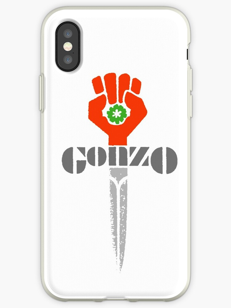 Hunter S Thompson Gonzo Sticker Shirt Iphone Cases Covers By