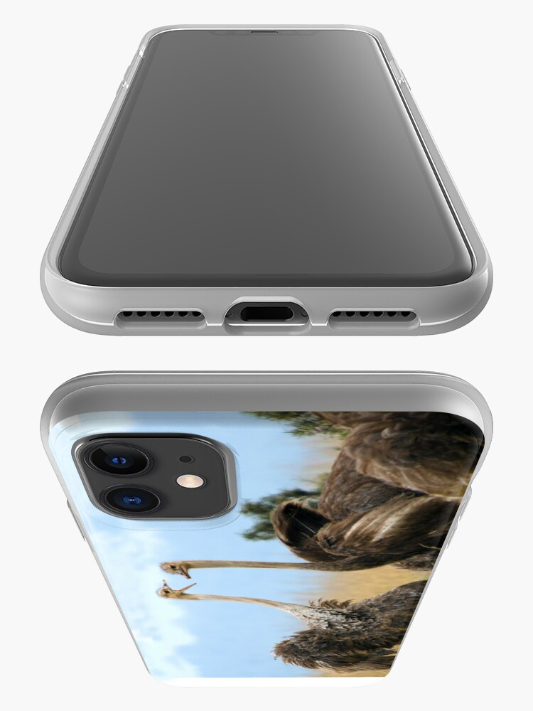Alternate view of Ostrich talk - iphone cover iPhone Case & Cover