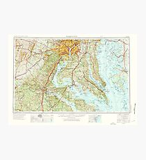 USGS Topo Map District of Columbia DC Washington 257790 1957 250000 Fotodruck
