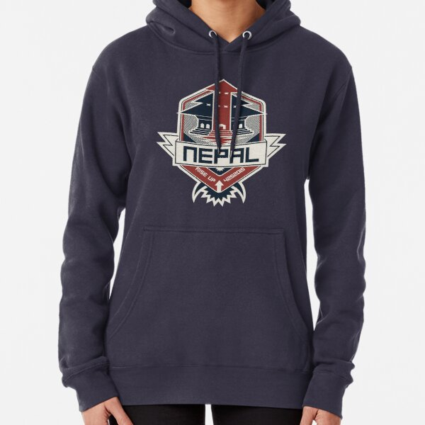 Nepal, Rise Up Pullover Hoodie