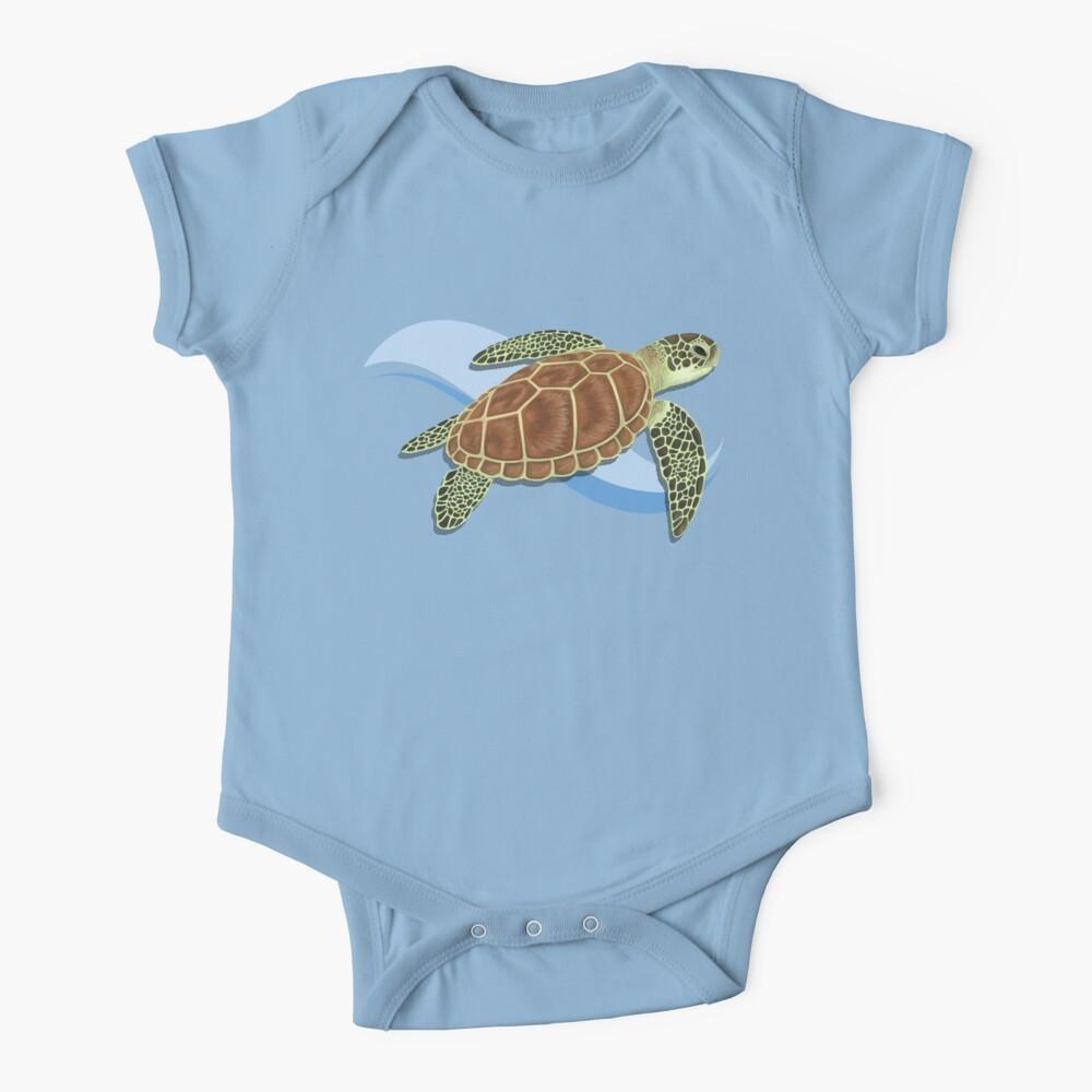 Green Sea Turtle Splash Baby One-Piece