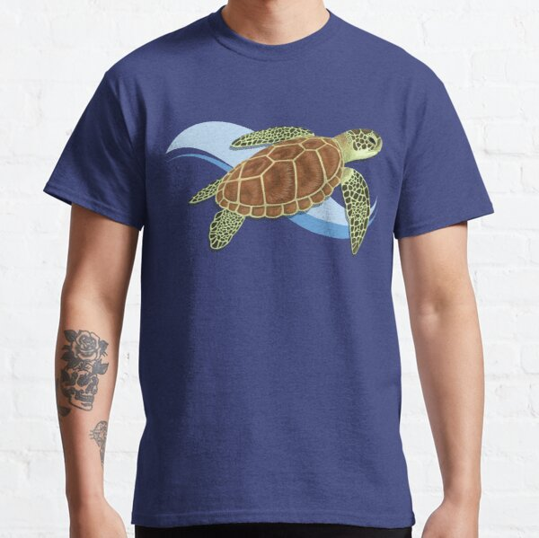 Green Sea Turtle Splash Classic T-Shirt