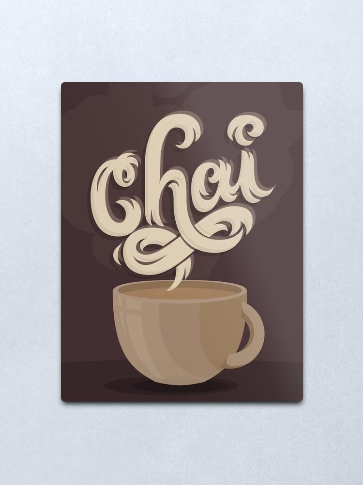 Alternate view of Chai Tea Metal Print